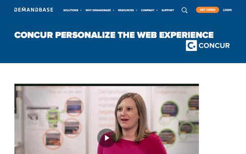 Screenshot of Case Studies Page demandbase.com - Jodi Lebow from Concur on Personalizing the Web Experience - captured Nov. 6, 2019