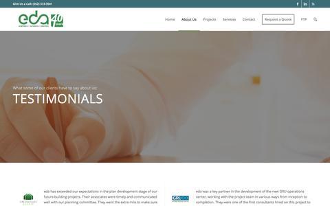 Screenshot of Testimonials Page edafl.com - Testimonials - eda - captured Dec. 26, 2016