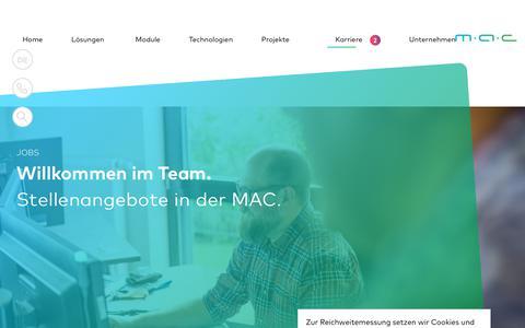 Screenshot of Jobs Page mac-its.com - Jobs : E-Commerce & Omnichannel : MAC IT-Solutions - captured Oct. 1, 2018