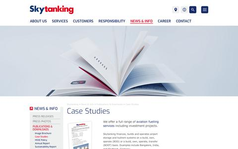 Screenshot of Case Studies Page skytanking.com - Skytanking | Publications & Downloads | Case Studies - captured Oct. 20, 2018
