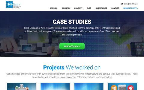 Screenshot of Case Studies Page hitechito.com - Case Studies - Hi-Tech ITO - captured Jan. 29, 2016