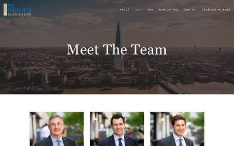 Screenshot of Team Page stbridesmanagers.com - Team — St Bride's Managers - captured Sept. 21, 2018