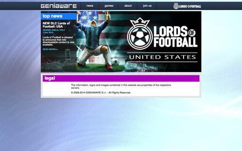 Screenshot of Terms Page geniaware.com - Geniaware - captured Oct. 2, 2014