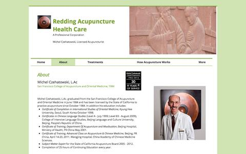 Screenshot of About Page acuphealthcare.net - About Redding Acupuncture Health Care - captured Oct. 20, 2017