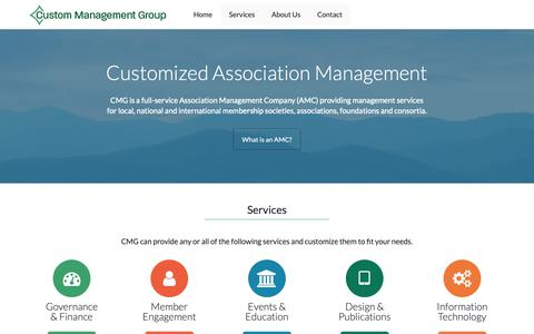 Screenshot of Home Page custommanagement.com - CMG | Customized Association Management - captured Sept. 30, 2018