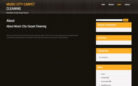 Screenshot of About Page musiccitycarpetcleaning.com - About – Music City Carpet Cleaning - captured June 21, 2018