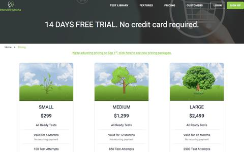 Affordable pricing of pre-employment testing solution