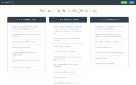 Screenshot of Pricing Page personal.com - Pricing | Personal.com - captured Dec. 31, 2015