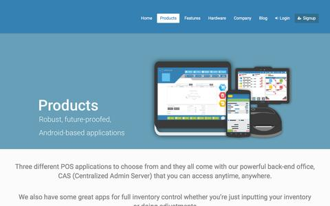 Screenshot of Products Page retailcloud.com - Products – retailcloud - captured Feb. 11, 2016
