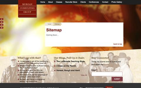 Screenshot of Site Map Page morgancg.com - Sitemap - Morgan Consulting Group - captured Oct. 26, 2014