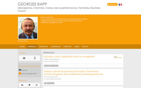 Screenshot of Jobs Page georgesrapp.com - Expériences - CV - Georges Rapp - captured March 2, 2016