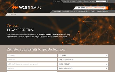 Screenshot of Trial Page wandisco.com - Free Trial | WANdisco - captured Dec. 24, 2017