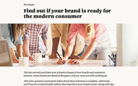 Screenshot of Landing Page monotype.com - Quiz: Brand Health   Monotype - captured July 23, 2017