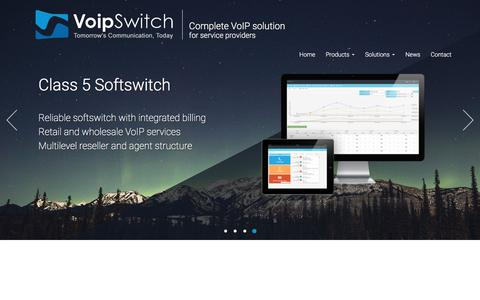 Screenshot of Home Page voipswitch.com - VoipSwitch - Tomorrow's Communication, Today - captured Aug. 31, 2016