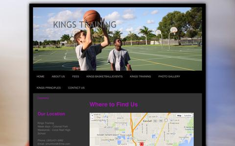 Screenshot of Maps & Directions Page training-kings.com - Directions - KINGS TRAINING - captured Oct. 6, 2014