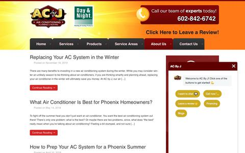 Screenshot of Blog acbyj.com - HVAC Blog | Heating & Cooling Blog | AC by J - captured Jan. 9, 2020