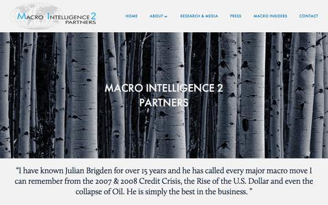 Screenshot of Home Page mi2partners.com - Macro Intelligence 2 Partners - captured Oct. 4, 2017