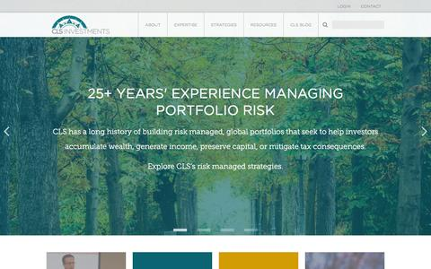 Screenshot of Home Page clsinvest.com - CLS Investments, LLC | - captured Jan. 23, 2016