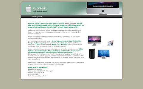 Screenshot of Home Page ejosoft.nl - >Ejosoft, Apple Authorised Reseller - captured Sept. 29, 2014
