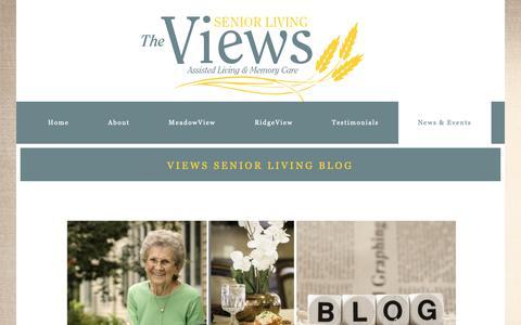 Screenshot of Blog viewsseniorliving.com - Views Senior Living Blog - Senior Assisted Living Cedar Rapids, Iowa - captured Dec. 21, 2018