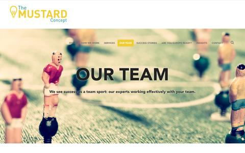 Screenshot of Team Page themustardconcept.com - Our Team – The Mustard Concept - captured Dec. 22, 2016