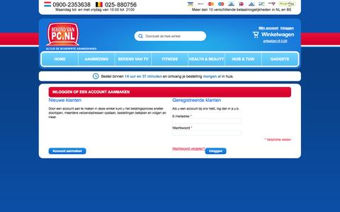 Screenshot of Login Page bekendvanpc.nl - Klant-login - captured Sept. 19, 2014
