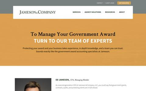 Screenshot of Team Page jamesoncpa.com - Meet the Team | Jameson CPA - captured Nov. 2, 2014