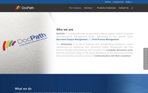 Screenshot of About Page docpath.com - DocPath Document Software Company - captured Nov. 14, 2017