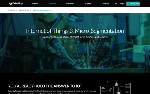Real-Time Analytics for Internet of Things (IoT) & Micro-segmentation | ExtraHop
