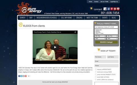 Screenshot of Testimonials Page pureenergyteam.com - Testimonials - captured March 17, 2016