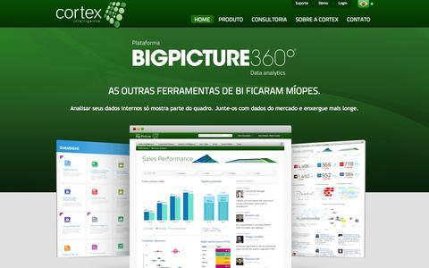 Screenshot of Home Page cortex-intelligence.com - Cortex Intelligence - captured Sept. 30, 2014