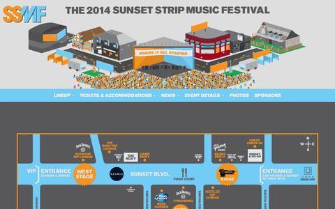 Screenshot of Maps & Directions Page sunsetstripmusicfestival.com - Map | Sunset Strip Music Festival 2014 - captured Oct. 30, 2014