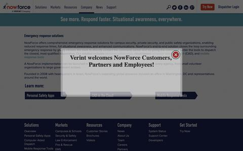 Screenshot of About Page nowforce.com - NowForce  » Company - captured Dec. 7, 2018