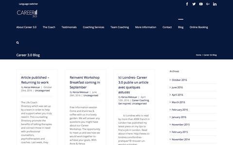 Screenshot of Blog career3point0.com - Career 3.0 Blog – Career 3.0 - captured July 14, 2017