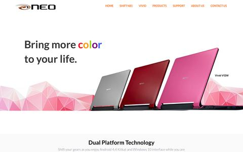 Screenshot of Home Page neo.com.ph - NEO - Laptop, Windows 2 in 1 Devices, Tablet, Powerbank and USB Accesories - captured Feb. 14, 2016