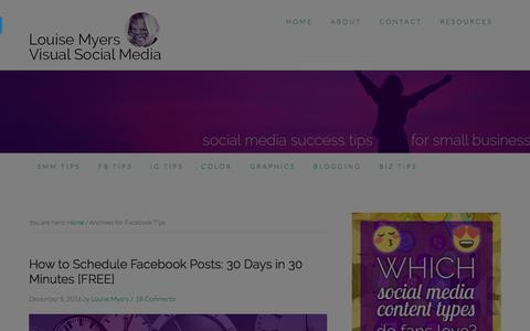 Facebook Tips Archives - Louise Myers Visual Social Media