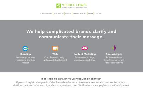 Screenshot of Home Page visiblelogic.com - Visible Logic compelling brand identities for print & web in Portland, Maine - captured June 24, 2017