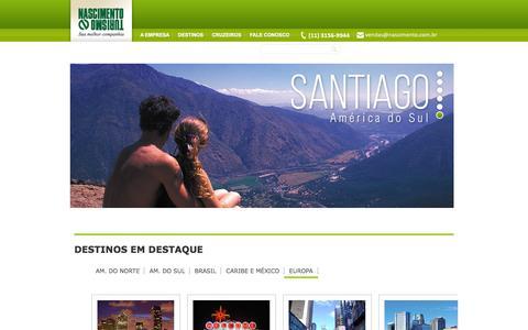 Screenshot of Home Page sunsea.com.br - Nascimento Turismo         - Hotéis, Pacotes de Viagens, Oferta, Promoção, Passagens Aéreas - Nascimento Turismo - captured Jan. 20, 2016