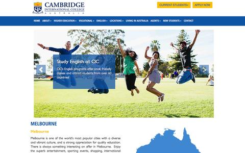 Screenshot of Locations Page cambridgecollege.com.au - Cambridge International College - Australia - captured Jan. 24, 2016