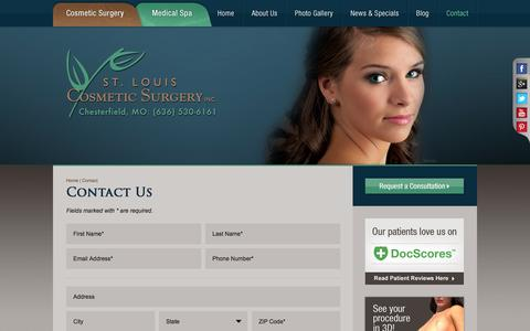 Screenshot of Contact Page stlcosmeticsurgery.com - Contact St. Louis Cosmetic Surgery - captured Oct. 6, 2014