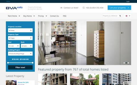 Screenshot of Home Page Login Page bluevisionagency.com - Thailand Property Pattaya Real Estate Condos Houses for Rent or Sale - captured Sept. 25, 2014
