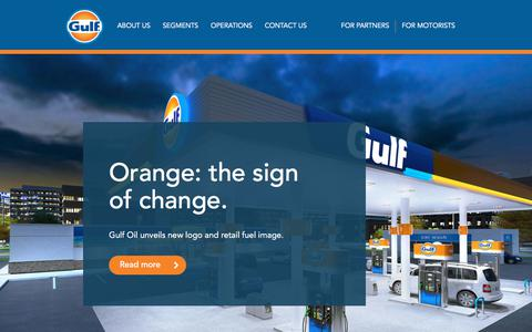 Screenshot of Home Page gulfoil.com - Welcome to Gulf Oil | Gulf Oil - captured July 28, 2019