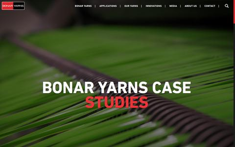 Screenshot of Case Studies Page bonaryarns.eu - CASE STUDIES | Bonar Yarns - captured Jan. 6, 2016