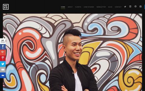 Screenshot of Home Page mizko.net - Mizko   Freelance UX / UI Designer from Sydney. - captured June 19, 2017