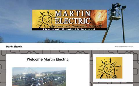 Screenshot of Home Page martin-electric.com - Martin Electric - captured Sept. 20, 2018