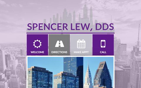 Screenshot of Home Page nycdental.com - Home | Spencer Lew DDS, PLLC - captured April 24, 2017