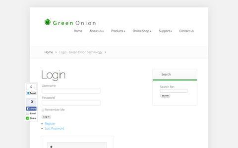 Screenshot of Login Page greenonion.co.za - Login - Green Onion Technology   Green Onion Technology - captured Oct. 3, 2014