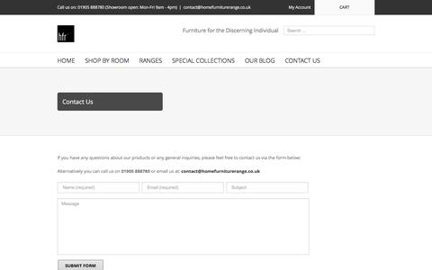 Screenshot of Contact Page homefurniturerange.co.uk - Home Furniture Range   –  Contact Us - captured July 15, 2016