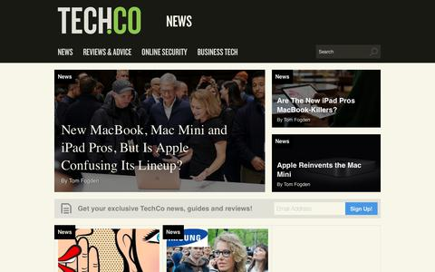 Screenshot of Press Page tech.co - News - Tech Startup News, Events & Resource from Tech.Co - captured Nov. 3, 2018