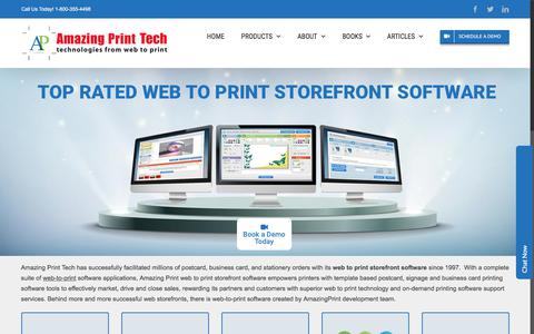 Screenshot of Products Page amazingprint.com - Web to Print Storefront Software by Amazing Print Tech - captured Aug. 16, 2019